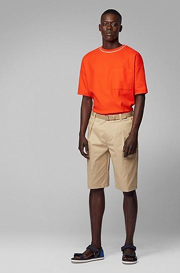 男士短袖T恤,  820_亮橙色