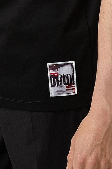 男士棉质休闲商务polo衫,  001_黑色