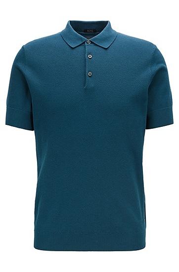 男士商务休闲polo衫,  427_中蓝色