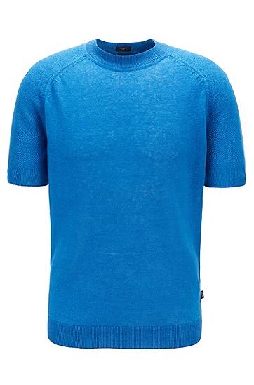 男士针织短袖T恤,  423_中蓝色