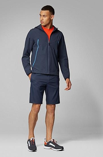 时尚休闲宽松拼接夹克外套,  410_海军蓝色