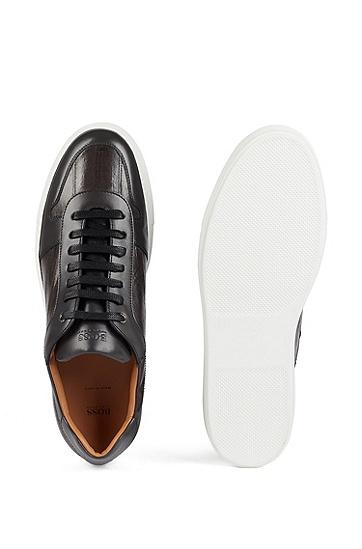 男款休闲低帮系带休闲鞋,  021_暗灰色