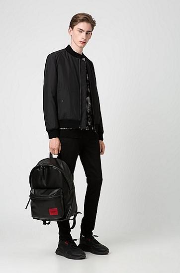 男士短款休闲夹克,  001_黑色