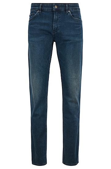 男士休闲弹力牛仔裤,  420_中蓝色