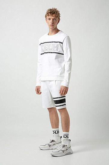 男士休闲中长裤,  100_白色