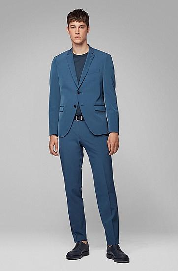 男士商务休闲西服套装,  427_中蓝色