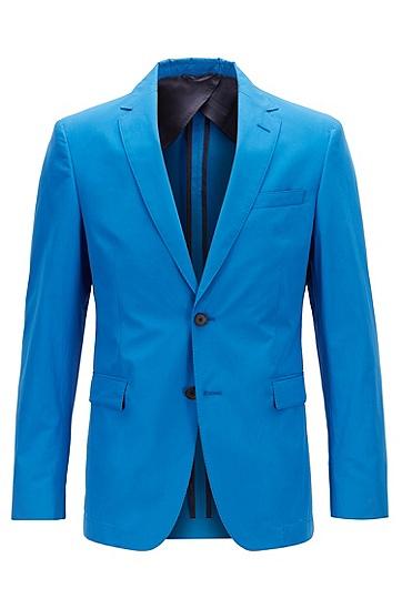 男士修身西装外套,  423_中蓝色