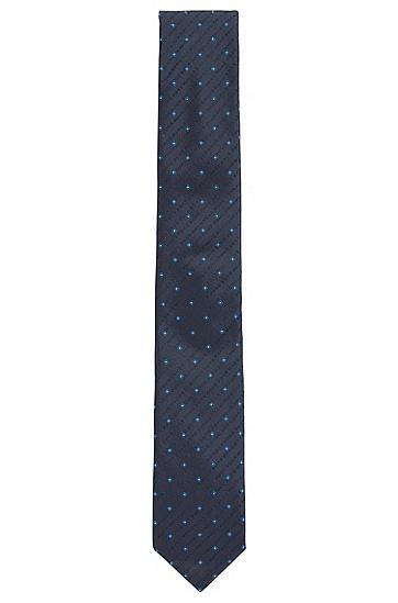 男士商务休闲波点领带,  402_暗蓝色