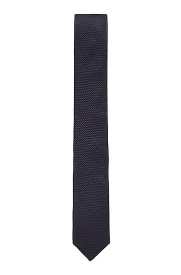 男士商务休闲桑蚕丝领带,  402_暗蓝色