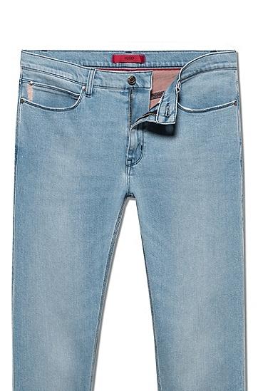 男士时尚休闲牛仔裤,  420_中蓝色