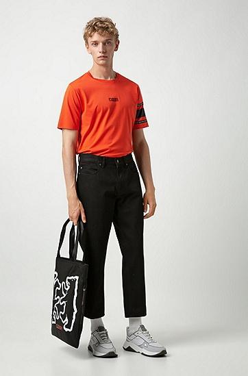 男士休闲宽松牛仔裤,  001_黑色