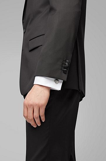 男士商务休闲袖扣,  040_银灰色