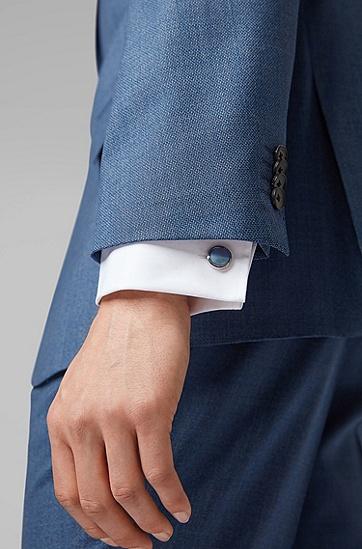 男士商务休闲袖扣,  423_中蓝色