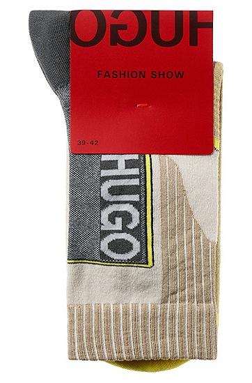 男士时尚休闲袜子1双装,  037_中灰色