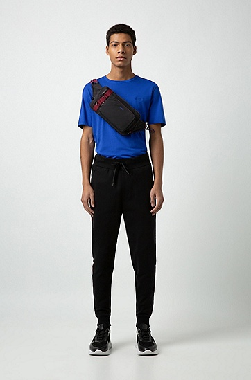 男士时尚休闲单肩斜挎包,  001_黑色