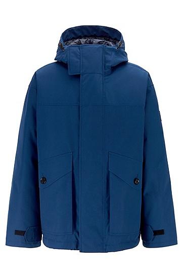 宽松休闲工装连帽保暖羽绒服,  417_海军蓝色