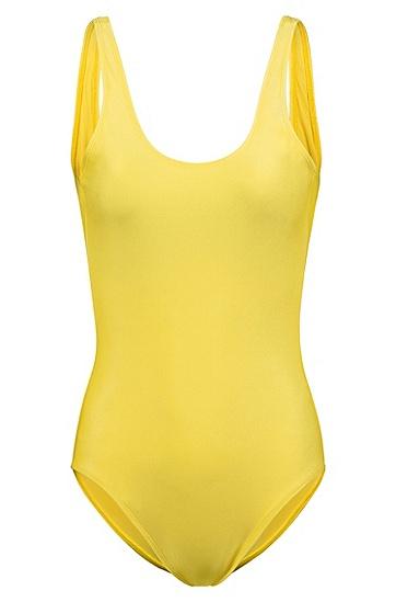 女士时尚泳装,  731_亮黄色