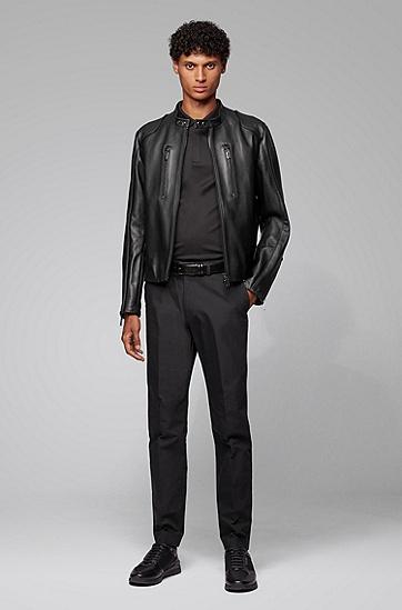 保时捷联名款纯棉短袖POLO衫,  001_黑色