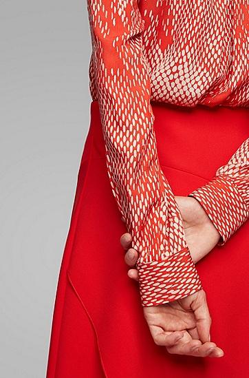 时尚休闲波点网格宽松长袖衬衫,  963_多色