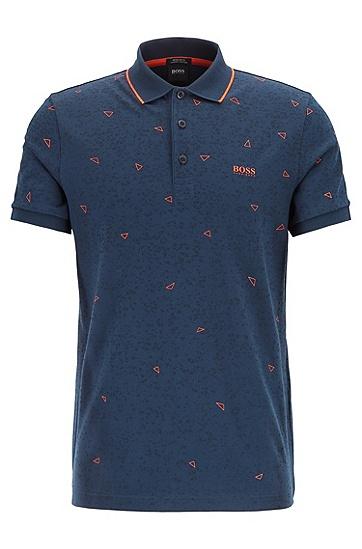 时尚休闲刺绣LOGO短袖Polo衫,  410_海军蓝色