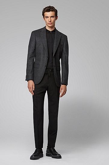 男士纯羊毛翻领纯色打底衫polo衫,  001_黑色