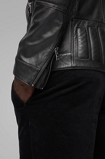 男士时尚潮流帅气皮衣夹克外套,  001_黑色