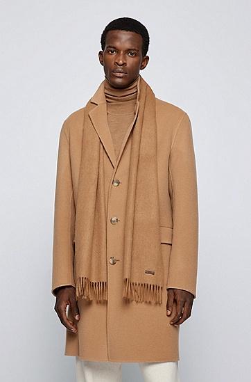 男士舒适保暖简约帅气羊毛围巾,  262_中米色