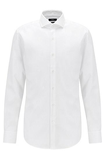 商务正装修身薄款衬衫,  100_白色