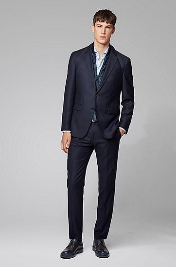 蓝色格纹商务全棉长袖衬衫,  450_浅蓝色