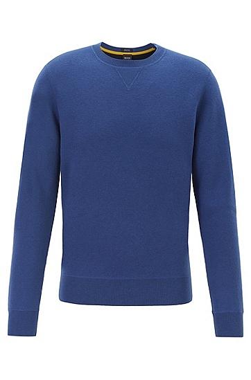 男士质山羊绒长袖上衣针织衫毛衣,  417_海军蓝色
