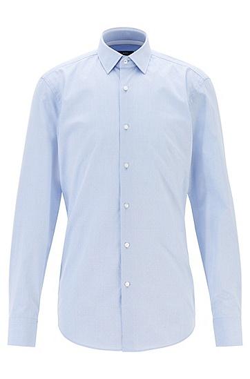 商务时尚小波点纯棉长袖衬衫,  450_浅蓝色