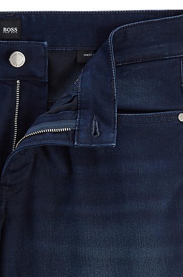 直筒商务休闲长裤牛仔裤,  404_暗蓝色