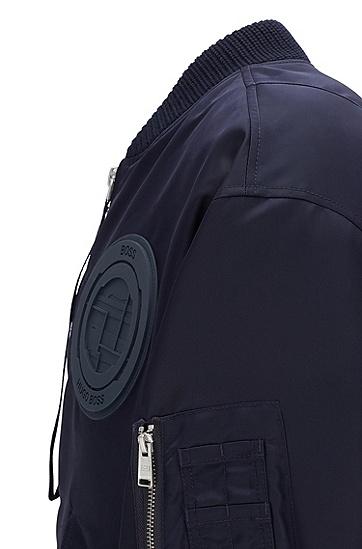 男士休闲飞行员夹克,  404_暗蓝色