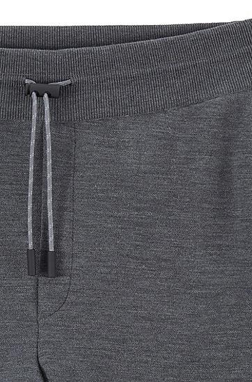 男士休闲抽身松紧短裤,  061_淡灰色