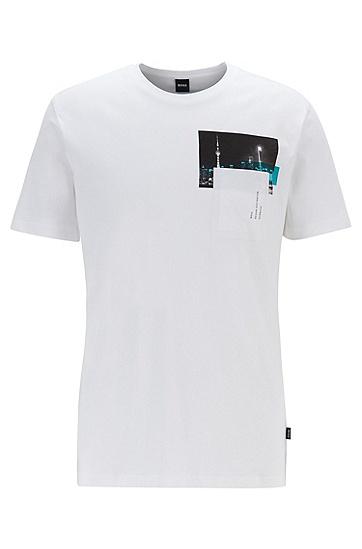 简约文艺休闲纯棉圆领短袖T恤,  100_白色