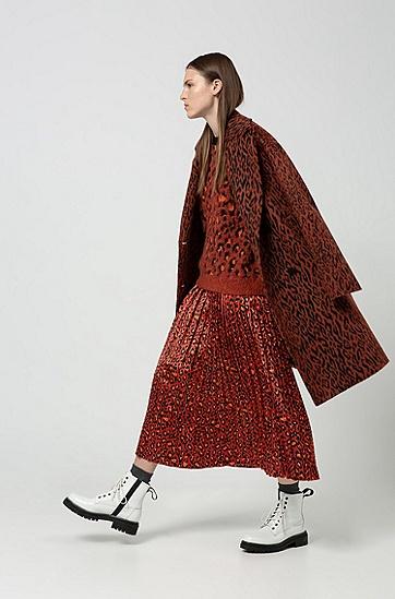 时尚复古撞色豹纹羊毛针织衫,  960_多色