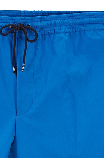 男士抽绳休闲长裤,  423_中蓝色