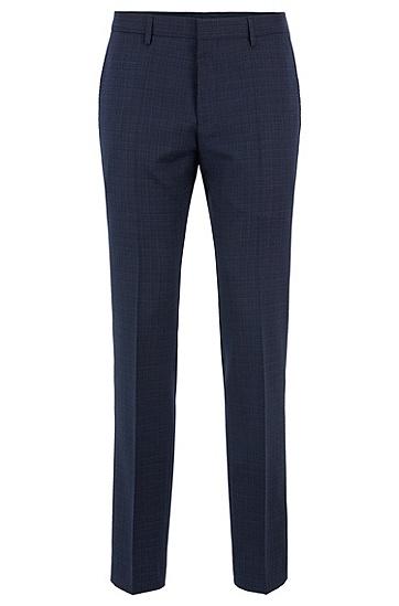 男士商务休闲修身版羊毛长裤西裤,  402_暗蓝色