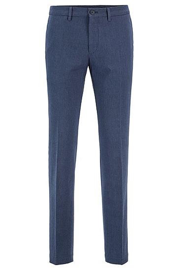 男士商务休闲纯棉直筒长裤西裤,  417_海军蓝色