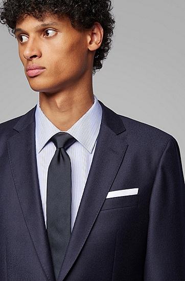 单排双扣羊毛正装西服,  402_暗蓝色