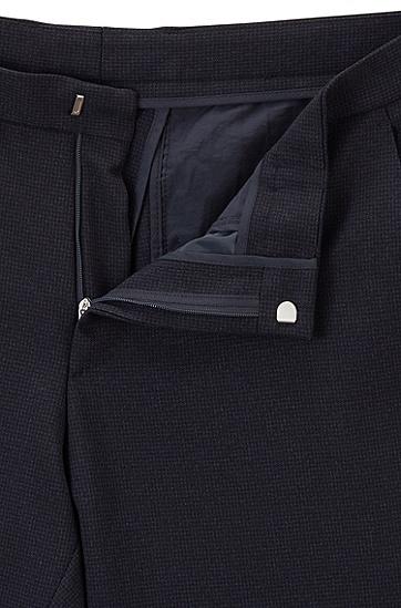 男士商务修身小脚黑色长裤西裤,  402_暗蓝色