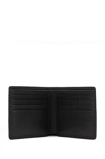 男士时尚休闲立体格纹钱包卡包,  001_黑色