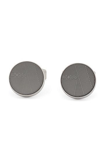 商务休闲气质易搭袖口袖扣,  041_银灰色