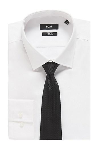 男士纹桑蚕丝领带,  001_黑色