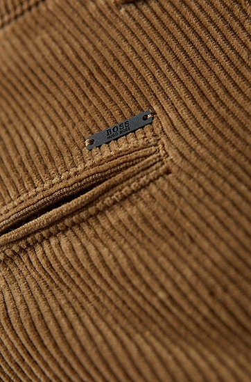 男士时尚复古灯芯绒长裤休闲裤,  280_淡米色