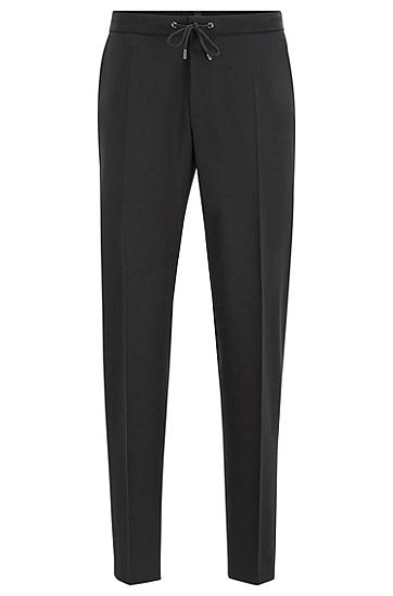 男士商务休闲小脚锥形西装裤,  001_黑色