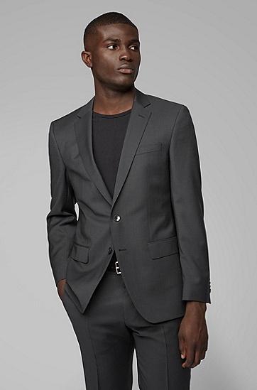 男士商务休闲常规版西服套装,  001_黑色