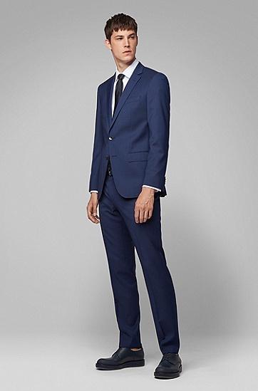 男士商务休闲常规版西服套装,  402_暗蓝色