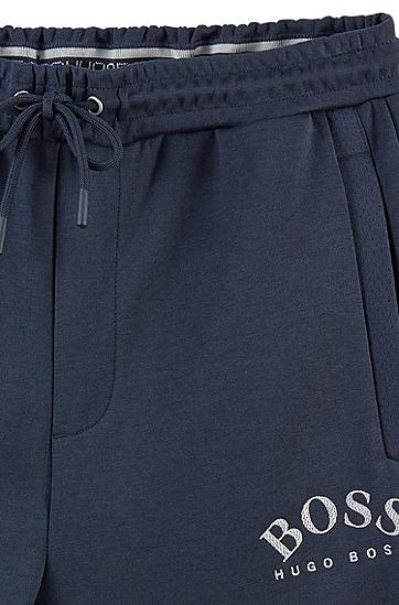 抽绳收脚时尚休闲九分裤,  416_海军蓝色