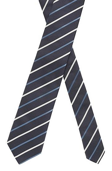男士商务休闲条纹领带,  469_淡蓝色